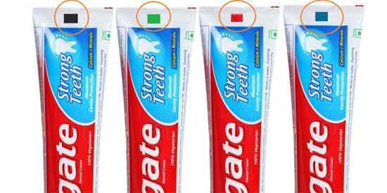 Bedeutung des Farbcodes der Zahnpasta