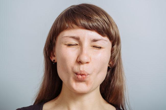 Verwöhnte Lippenatmung
