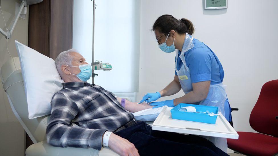 Aldo war einer von nur einer Handvoll Patienten aus Großbritannien, die an der Studie teilnahmen